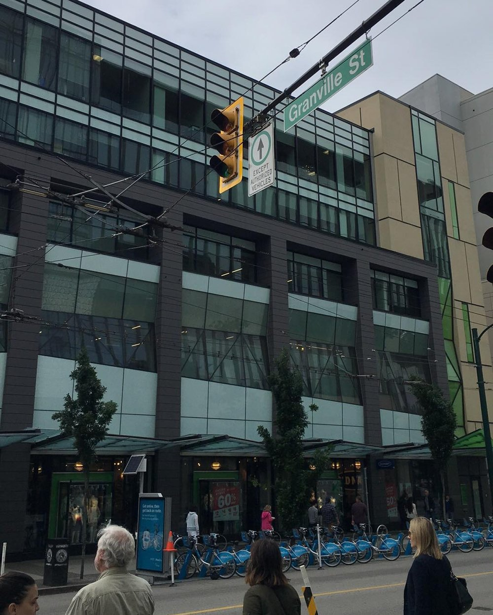Old Navy at Granville Street and Robson Street (across from Nordstrom). Photo: Lee Rivett