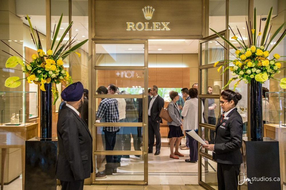 Rolex Boutique at Birks at 'The Core' in downtown Calgary. Photo:jmstudios.ca
