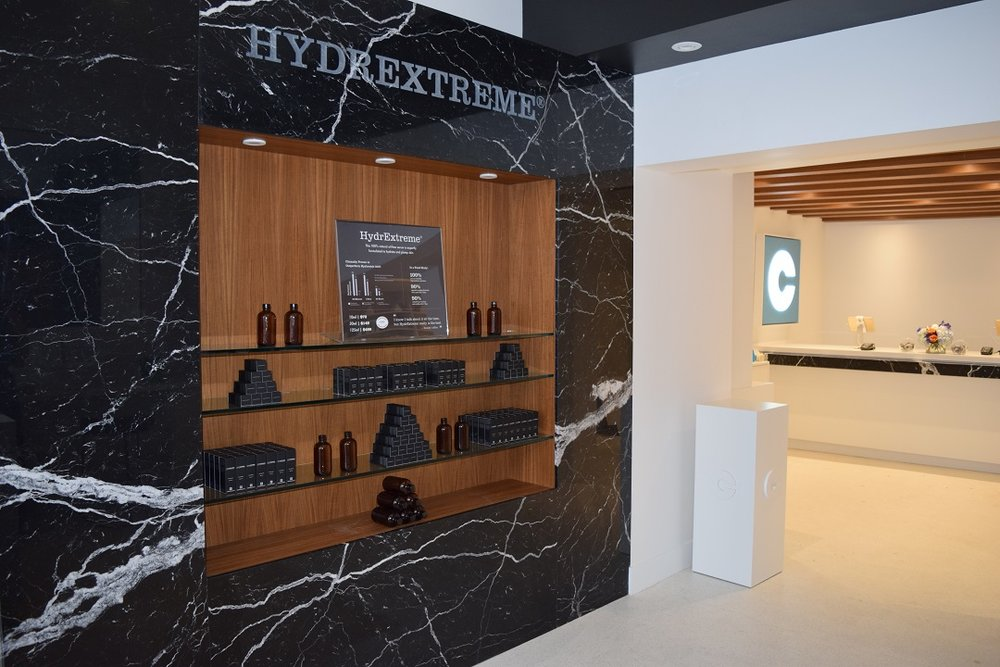 Premium product line 'Hydrextreme' wall in the new store.