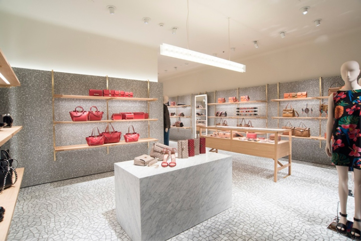 Photos (above and below) of the Valentino in first store at Cidade Jardim mall in São Paulo