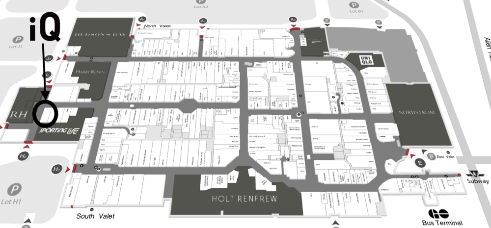 Click for interactive Yorkdale Mall Map