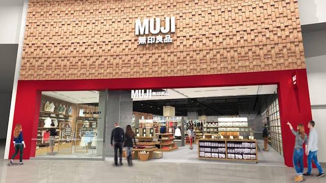 Rendering (above): Muji.     Below: Metrotown Opening (Interiors Slideshow): Susanne Milner
