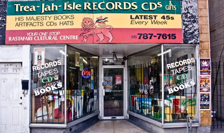 Trea-Jah-Isle Records is a long-time business in the Caribbean district along Eglinton Avenue West. Photo: York Eglinton BIA