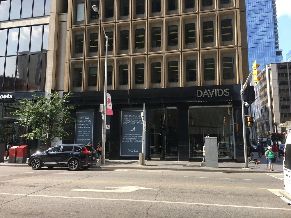 David's Shoes at 66 Bloor Street West -- the adjacent Capezio space is being added for an expanded store set to be unveiled this fall. Photo: Craig Patterson