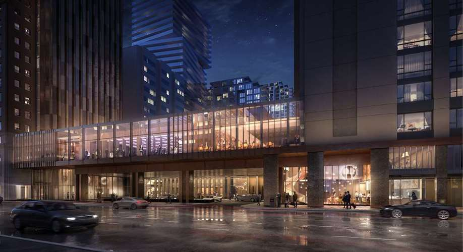 Rendering of the Park Hyatt Hotel which is set to re-open in 2020. Included will be retail and a Japanese restaurant is confirmed. Rendering: Hyatt Hotels.