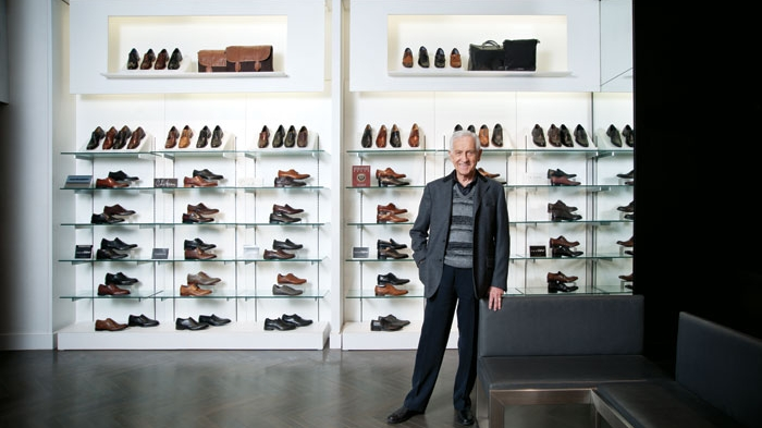 Town Shoes founder Leonard Simpson