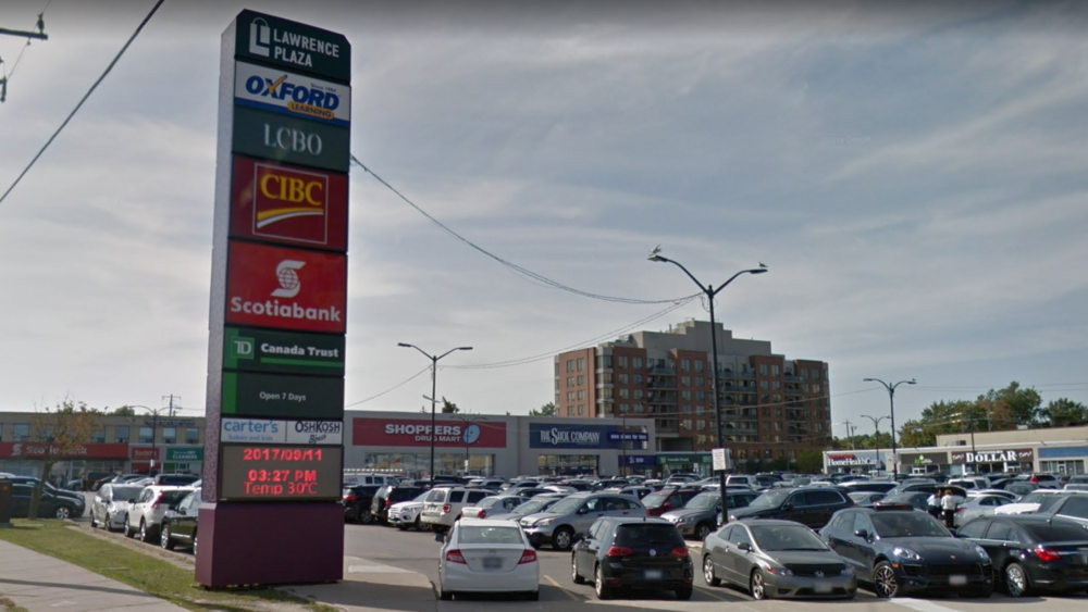 Lawrence Plaza in Toronto. Photo: Google Maps