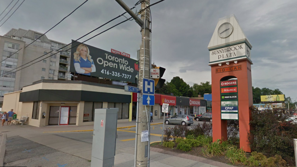 Sunnybrook Plaza in Toronto. Photo: Google Maps