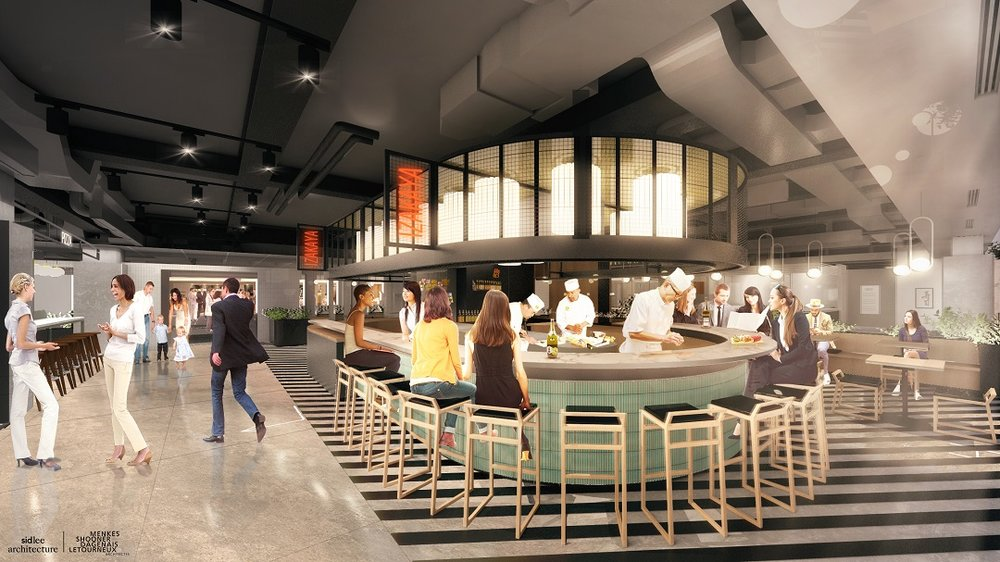 fast Food and casual section of Le Cathcart.   Rendering:   Sid Lee Architecture/Supplied