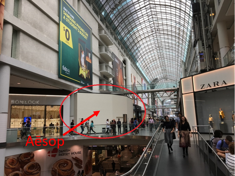 Cf Toronto Eaton Centre. Photo: Craig Patterson