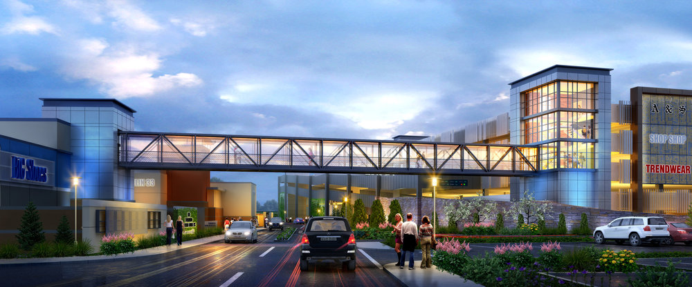 New Parking Garage located at the south-west corner of Trafalgar Road. Photo: Toronto Premium Outlets Facebook