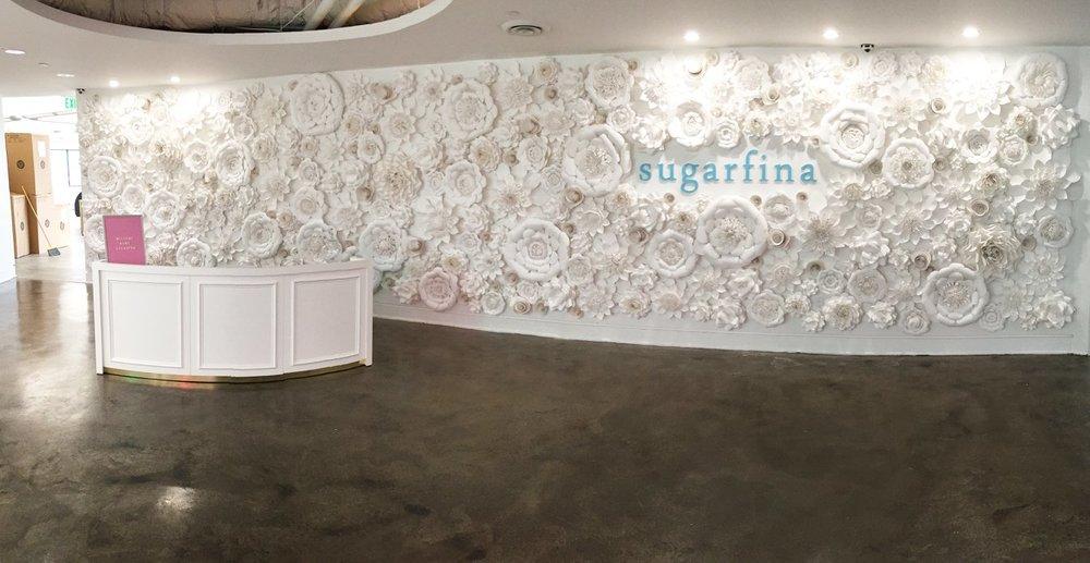 Sugarfina HQ Flower Wall. Photo: Sugarfina Facebook