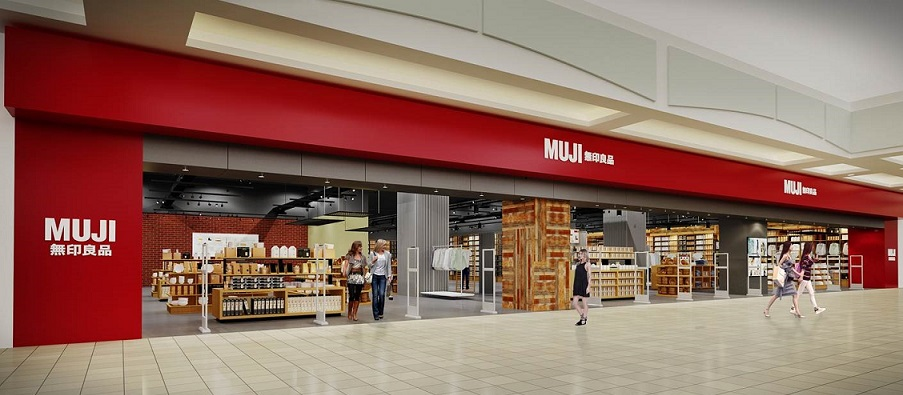 Rendering of the expanded Metrotown store, provided by Muji