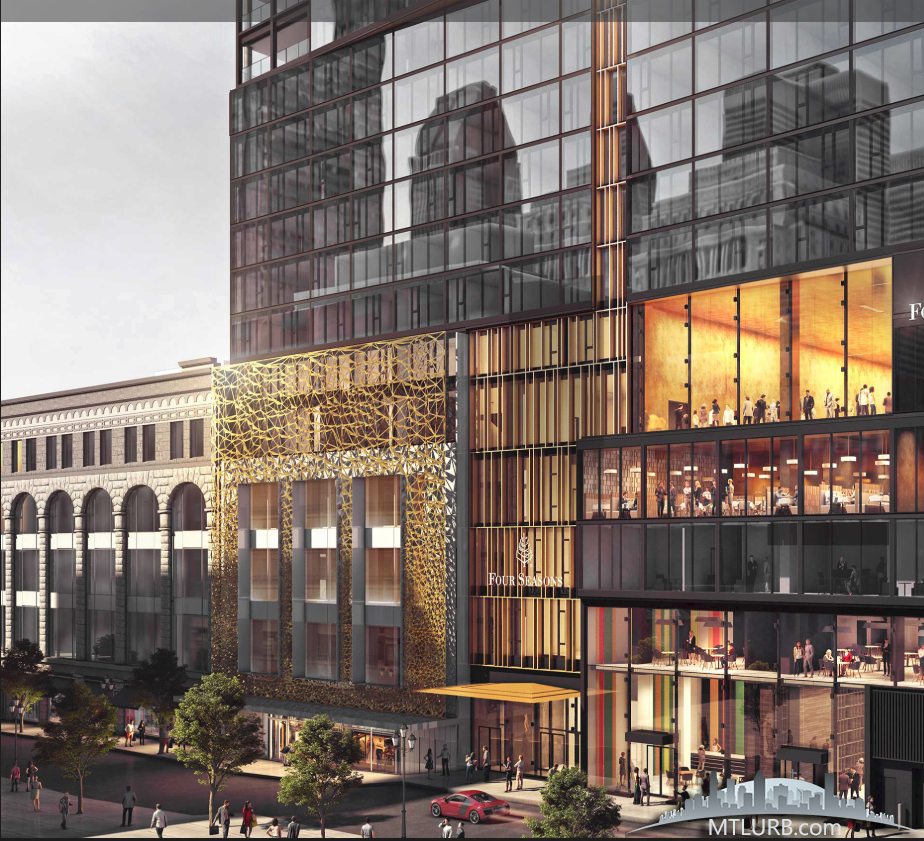 Four Seasons Montreal. Rendering: Blouin Tardif Architecture