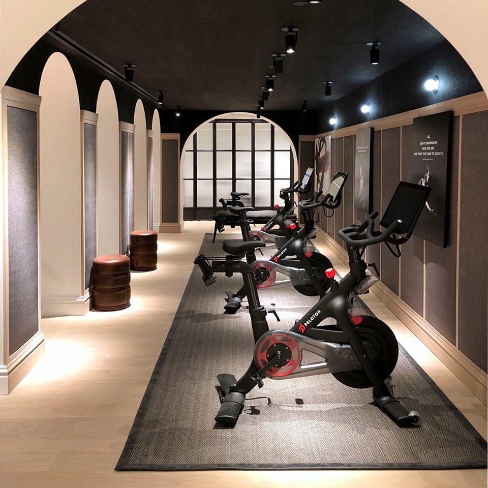 New York City showroom. Photo: Peloton Facebook
