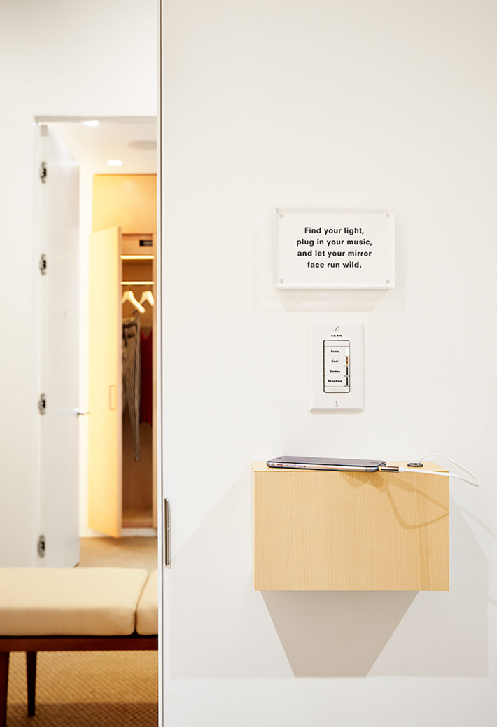 Dressing Room Innovation by 'Reformation'