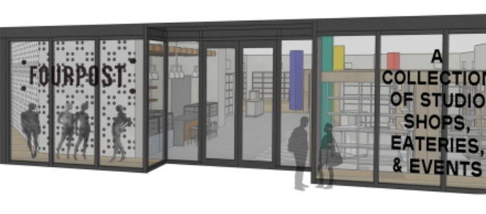 Rendering of the Minneapolis Fourpost space which formerly housed a J.Crew store.