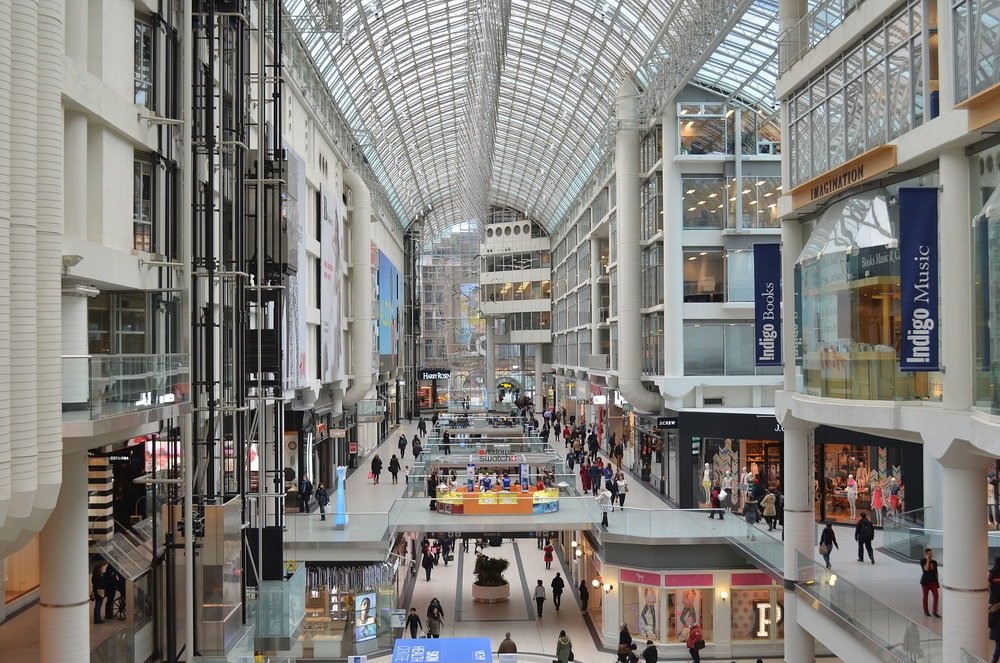 Toronto Eaton Centre. Photo: Wikipedia