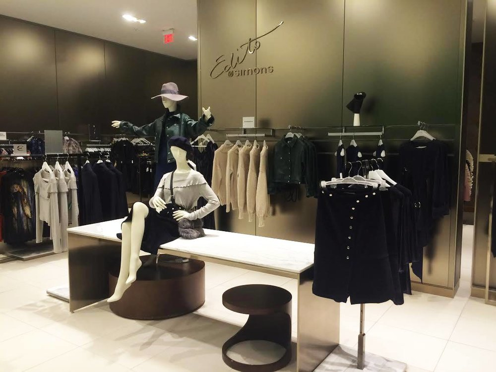 Edmonton-based Malorie Urbanovitch display at Simons West Edmonton Mall. Photo: Urbanovitch Facebook