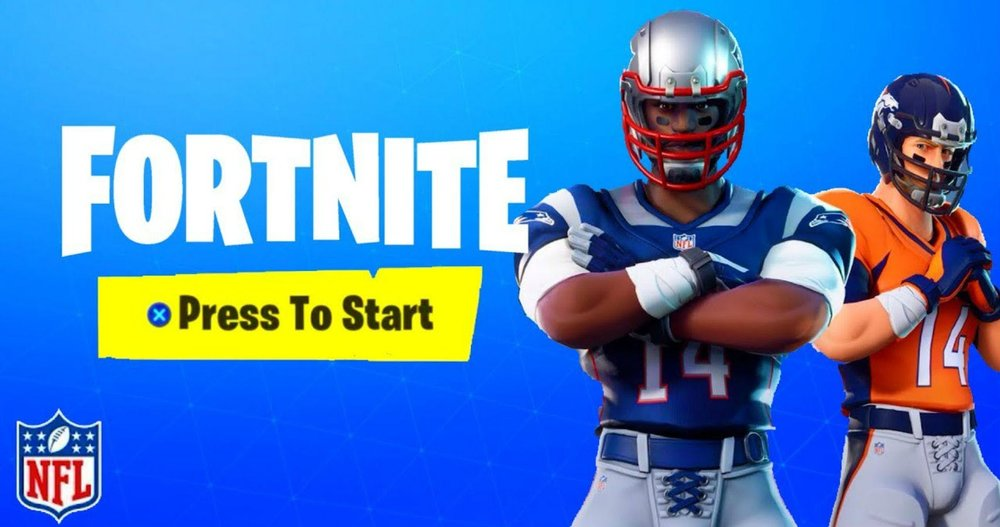 7ab5d272582 ... NFL announced a partnership that allowed Fortnite players to sport  uniforms from the league's 32 teams in the online game. Blue Apron, Casper  and Dollar ...