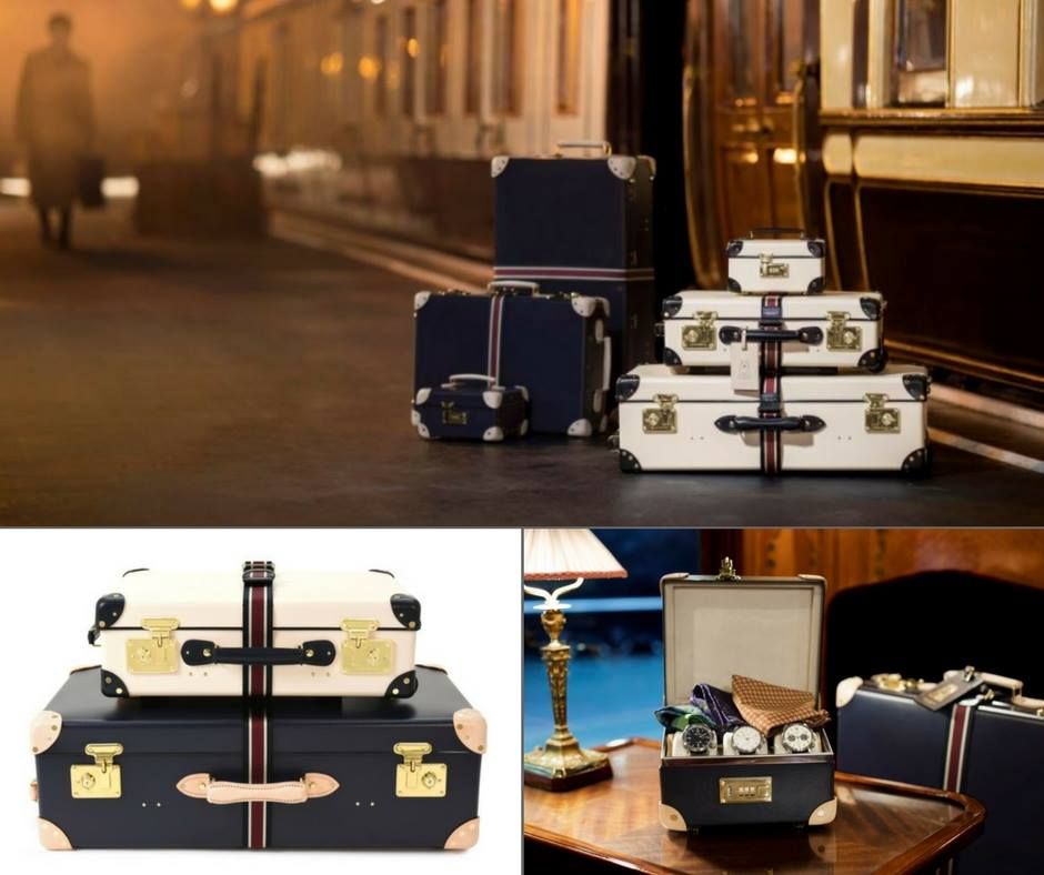 Globe-Trotter    deco collection inspired by the film    Murder On The Orient Express   . Photo: B Hemmings & Co.