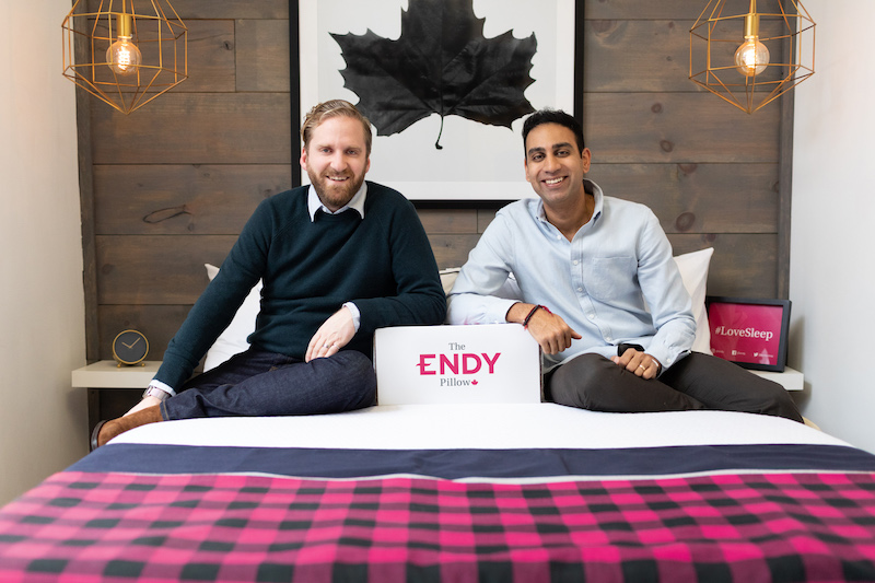Endy Founders Mike Gettis (left) and RAJEN RUPARELL. Photo: Endy