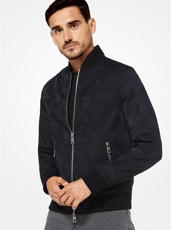 Camouflage Nylon and Wool Bomber Jacket. Photo: Michael Kors Website