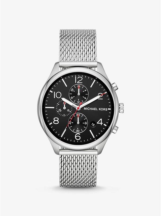 Merrick Silver-Tone Mesh Watch. Photo: Michael Kors Website