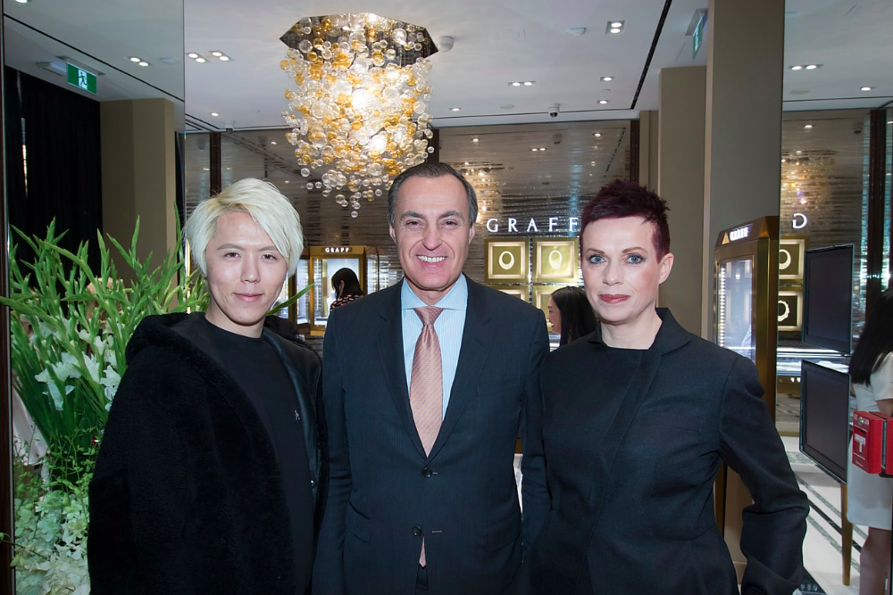 Left-to-right: Lancho Cephivenus (CEO of Chobee Aesthetic Marketing), Jean-Christophe Bédos, (President and CEO of Birks Group Inc., and Helen Siwak, West Coast Correspondent for Retail-Insider