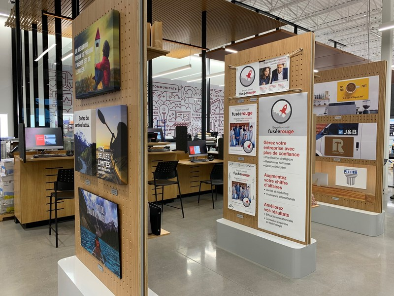 Solution Shop at the new Bureau en Gros store in Kirkland, Quebec. Photo: Newswire/Staples
