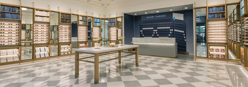Inside a Warby Parker Store. Photo: Warby Parker
