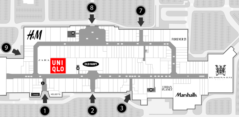 Click Image for interactive Oshawa Centre mall floor plan