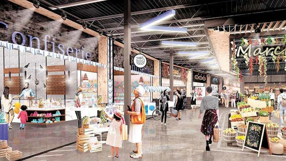 Renderings of Quebec City Food Market aT Galeries de la Capitale set to open Fall 2019