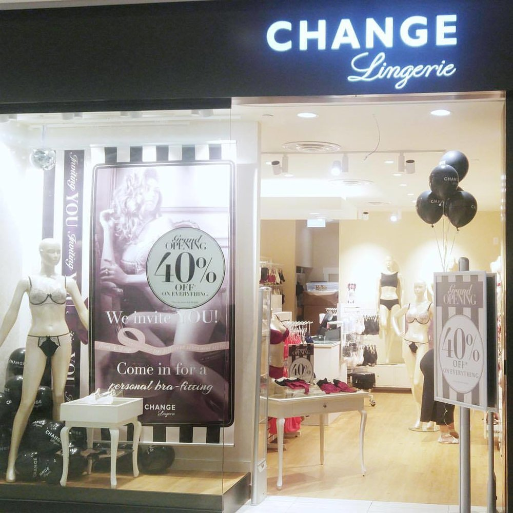 CF Richmond Centre Location. Photo: CHANGE Lingerie Facebook