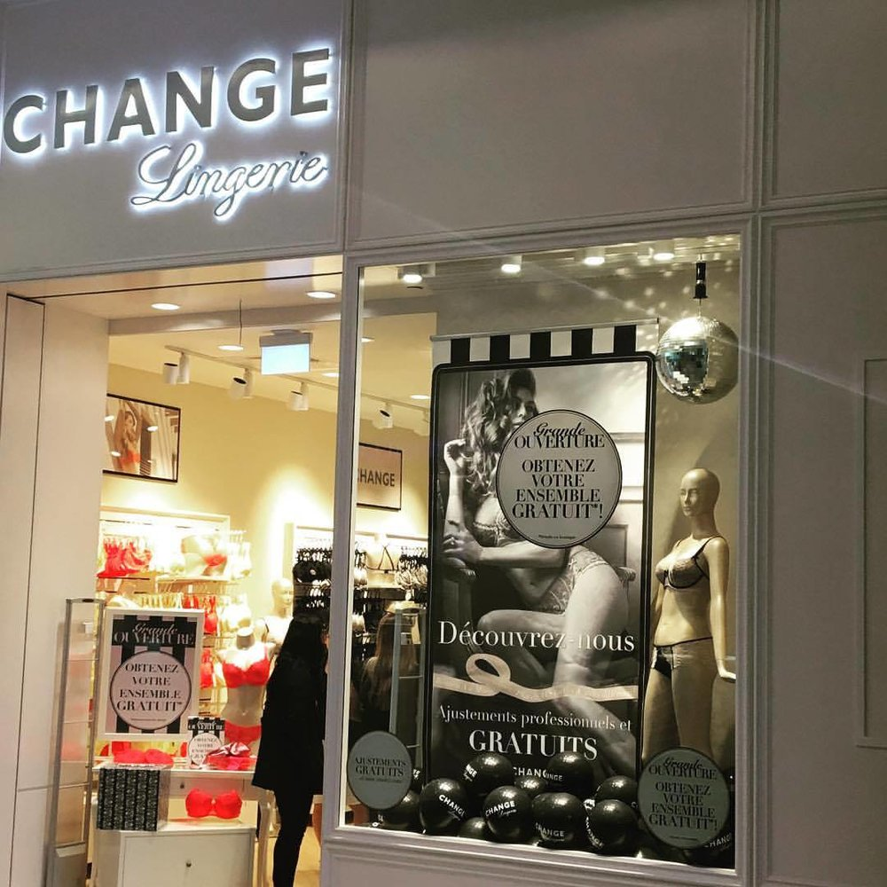 CF Carrefour Laval Location. Photo: CHANGE Lingerie Facebook