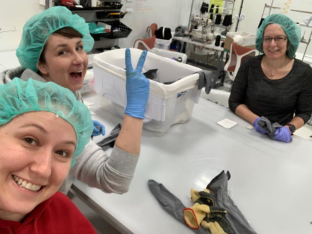 Behind the scenes at Sheertex. Photo: Sheertex Facebook