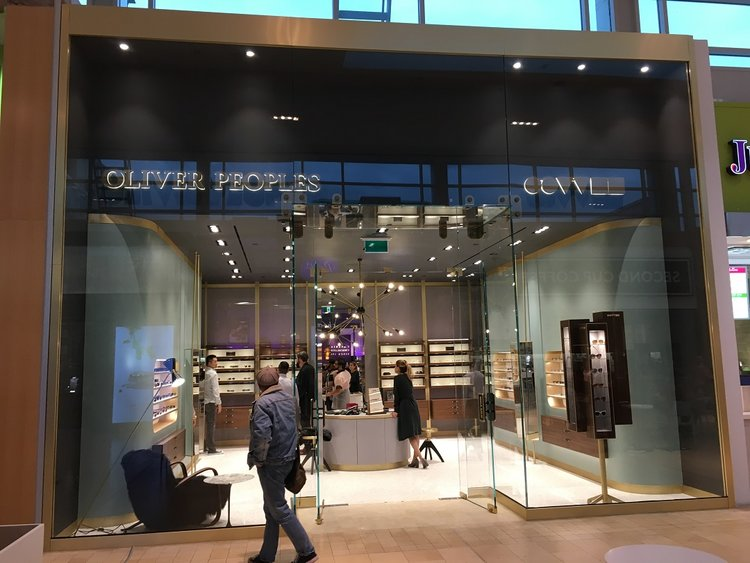Oliver Peoples' Yorkdale storefront. Photo: Craig Patterson