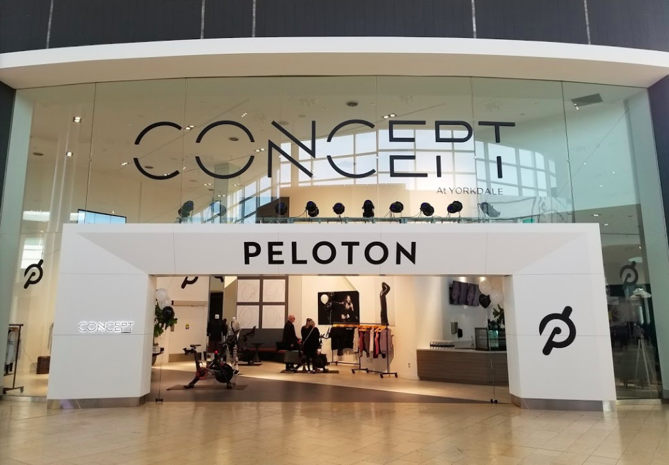 Peloton at Toronto's Yorkdale Shopping Centre. Photo: Justin Lau.