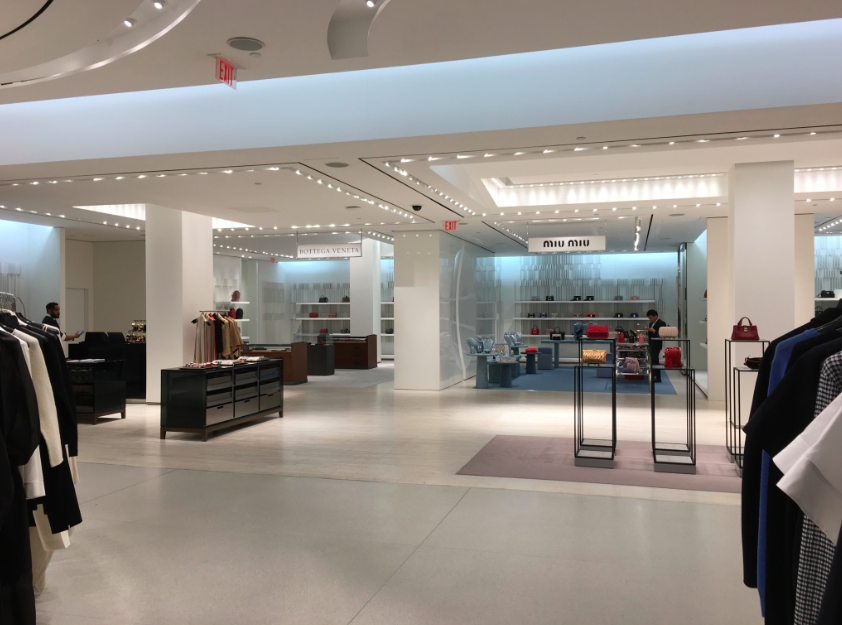 New Temporary Burberry, Bottega Veneta and Miu Miu boutiques on 2. Photo: Retail Insider