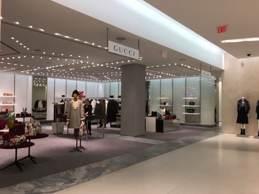 The temporary Gucci and Celine boutiques on 2. Photo: Retail Insider