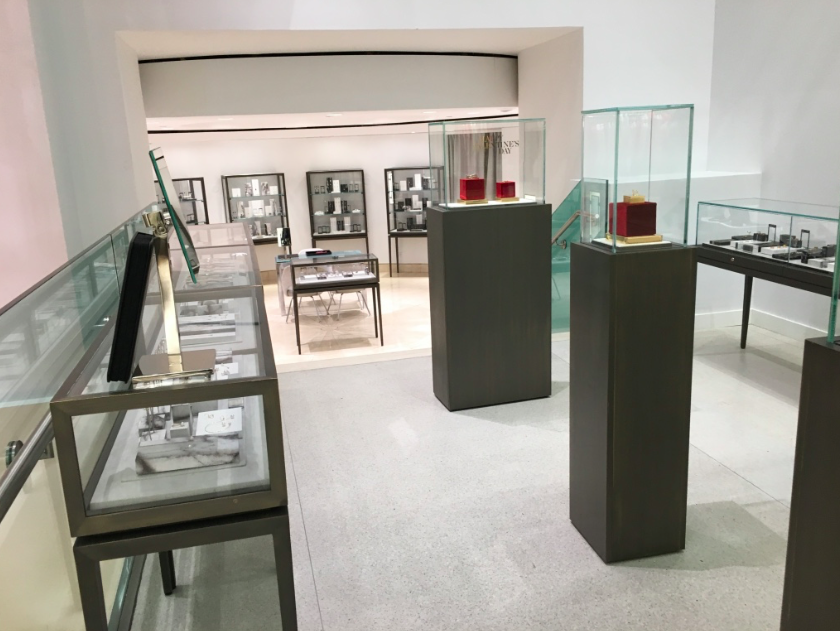 Temporary Jewellery area on 2 that once housed a salon and spa. Photo: Retail Insider