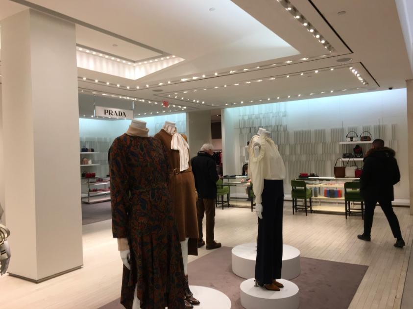 Temporary Prada boutique on 2. Photo: Retail Insider