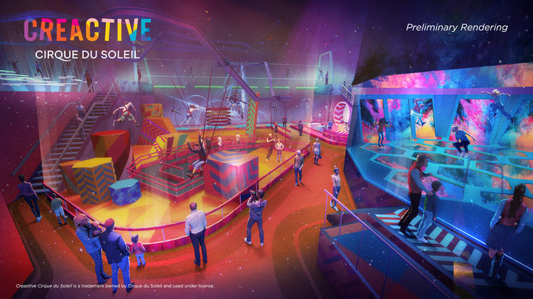 Cirque du Soleil will oepn its first mall experience centre at Vaughan Mills this year. Image: Ivanhoé Cambridge.