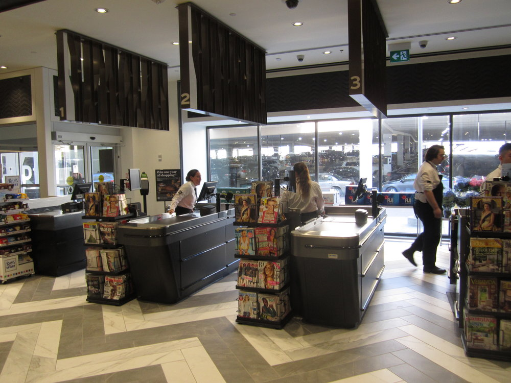 Checkouts at the Pusateri's Fine Foods store at CF Sherway Gardens in Toronto. Photo: Pan-Oston