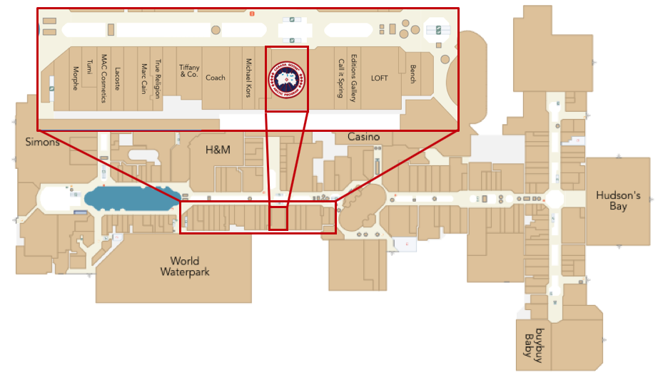 CLICK FOR INTERACTIVE MAP OF WEST EDMONTON MALL