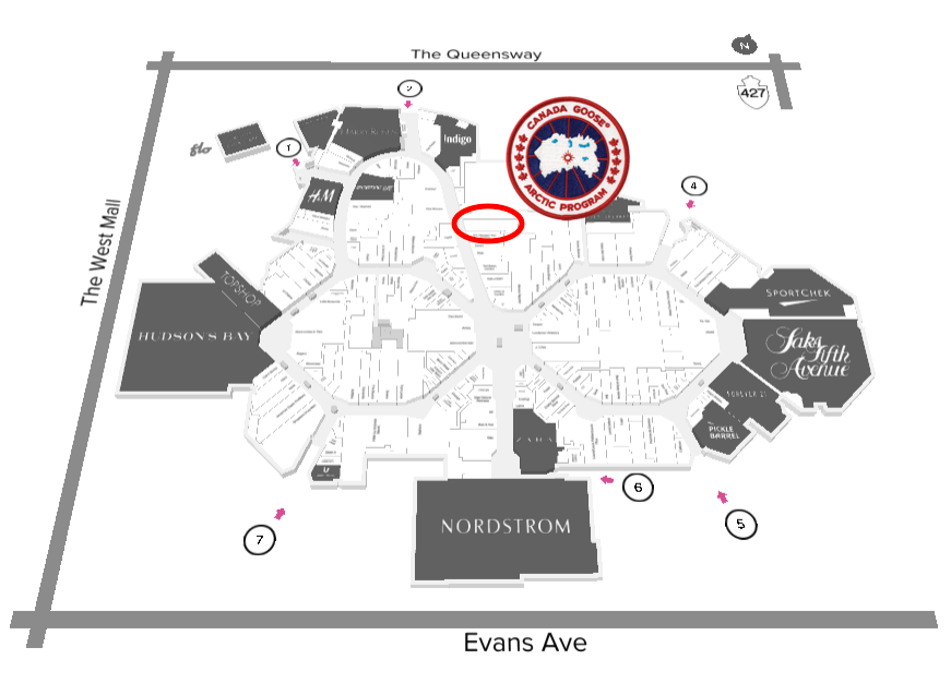 CLICK FOR INTERACTIVE MAP of CF SHERWAY GARDENS