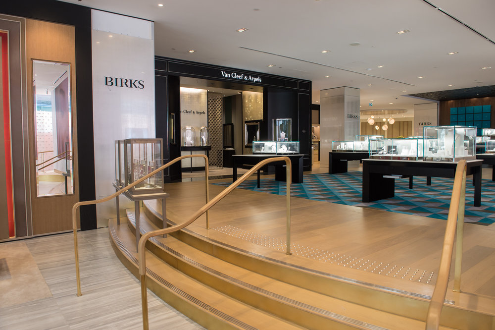 Looking towards the Van Cleef & Arpels boutique from the front of the store near the main entrance. PHOTO: MAISON BIRKS