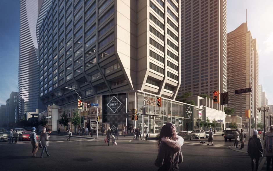 Rendering of the completed Manulife Centre commercial podium. Image: Manulife
