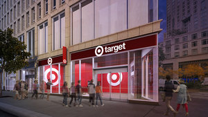 PROPOSED TARGET STORE FOR COLUMBUS CIRCLE IN NEW YORK CITY RENDERING: TARGET