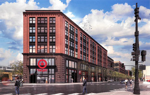 PROPOSED TARGET STORE FOR LOGAN SQUARE IN CHICAGO, ILLINOIS RENDERING: TARGET